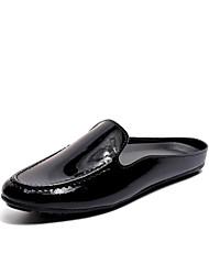 お買い得  -男性用 靴 エナメル 春 夏 ダイビングシューズ コンフォートシューズ ローファー&スリップアドオン のために カジュアル アウトドア ブラック