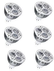 Недорогие -6шт 7W 600lm MR16 Точечное LED освещение 3 Светодиодные бусины Высокомощный LED Декоративная Тёплый белый Холодный белый 12V