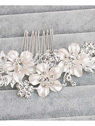 cheap -Alloy Hair Accessory with Rhinestone Scattered Bead Floral Motif Style 1 Piece Wedding Party / Evening Headpiece