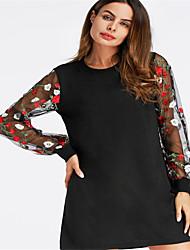 povoljno -Žene Jednostavan Tunika Haljina Jednobojni Iznad koljena