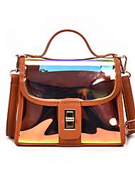 お買い得  -女性用 バッグ PVC PU バッグセット 2個の財布セット ボタン のために イベント/パーティー カジュアル オールシーズン グリーン ブラック ピンク Brown ワイン