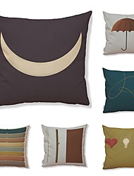 cheap -6 pcs Textile Cotton/Linen Pillow case Normal Pillow Cover, Art Deco Pattern Special Design High Quality New Arrival