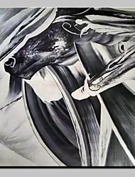 economico -Hang-Dipinto ad olio Dipinta a mano - Astratto Pop Art Modern Tela