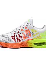 baratos -Mulheres Sapatos Tule Primavera / Outono Conforto Tênis Corrida Sem Salto Ponta Redonda Preto / verde / Black / azul / Branco e Verde