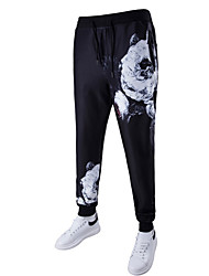 abordables -Hombre Deportivo Chinos Pantalones - Floral