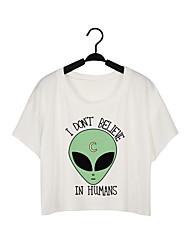 preiswerte -Damen Buchstabe-Aktiv T-shirt