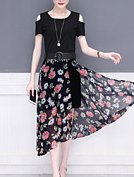povoljno -Žene Bluza - Cvjetni print Suknja