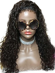 cheap -Unprocessed Human Hair Wig Brazilian Hair Curly Side Part Middle Part 130% Density With Baby Hair With Bleached Knots 100% Hand Tied For