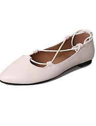povoljno -Žene Cipele PU Proljeće Jesen Balerinke Ravne cipele Ravna potpetica za Kauzalni Zabava i večer Crn Bež