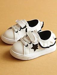 Недорогие -Девочки Обувь Дерматин Весна Удобная обувь / Обувь для малышей Кеды для Черный / Красный / Розовый