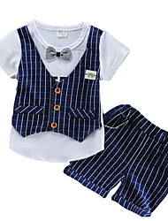 cheap -Toddler Boys' Street chic Striped Short Sleeve Clothing Set