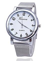 baratos -Mulheres Relógio de Moda Relógio Elegante Quartzo Prata Relógio Casual Analógico senhoras Casual Minimalista - Branco Preto Um ano Ciclo de Vida da Bateria