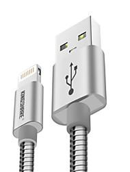 Недорогие -Подсветка Адаптер USB-кабеля Быстрая зарядка Высокая скорость Кабель Назначение iPhone 120cm сплав цинка