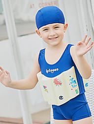 cheap -SABOLAY Boys' Swim Dress / One Piece Swimsuit Comfortable, Detachable Cap Polyester / Spandex / Chinlon Sleeveless Beach Wear Swimwear