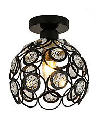 cheap -Modern Crystal Mini Style Painting Metal Flush Mount Living Room Bedroom Dining Room Light Fixture