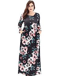 cheap -Women's Holiday Slim Sheath Dress - Floral Maxi