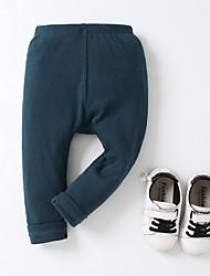 abordables -bebé pantalones de color sólido diario, poliéster primavera verano calle chic ejército verde rubor rosado 70 80 110 100 90