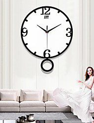 cheap -Modern / Contemporary Acryic / Polyester Novelty Indoor / Outdoor,AA Batteries Powered AA Wall Clock