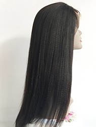cheap -Unprocessed Human Hair Full Lace Wig Indian Hair Straight Layered Haircut 130% Density With Baby Hair / African American Wig / For Black Women Black Women's Short / Long / Mid Length Human Hair Lace