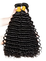 cheap -Vietnamese Hair / Deep Wave Curly Unprocessed Human Hair Gifts / Extension / Brands Outlet 3 Bundles Human Hair Weaves New Arrival / For Black Women / Coloring Natural Black Human Hair Extensions All