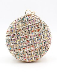 cheap -Women's Bags Polyester Evening Bag Embroidery for Wedding / Event / Party White / Black