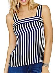 cheap -Women's Basic T-shirt-Striped