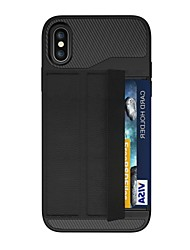 cheap -Case For Apple iPhone X iPhone 8 Plus Card Holder Magnetic Origami Armor Back Cover Armor Hard PC for iPhone X iPhone 8 Plus iPhone 8