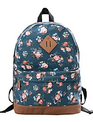 baratos -Mulheres Bolsas Tela de pintura mochila Estampa para Ao ar livre Vermelho / Azul Escuro / Azul Real