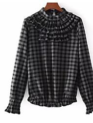 cheap -Women's Basic Shirt - Check Print