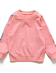 abordables -Enfants Fille Couleur Pleine Manches Longues Pull à capuche & Sweatshirt