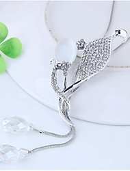Недорогие -Жен. В форме листа Ожерелья с подвесками  -  Мода европейский Серебряный 70cm Ожерелье Назначение Для вечеринок