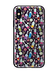 Недорогие -Кейс для Назначение Apple iPhone X iPhone 8 С узором Кейс на заднюю панель Продукты питания Твердый Закаленное стекло для iPhone X iPhone