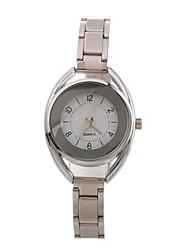abordables -Mujer Reloj de Pulsera Chino Reloj Casual / Esfera Grande Aleación Banda Moda / Elegante Negro / Plata / Dorado / Un año
