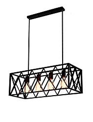 cheap -Vintage Industrial Metal Pendant Lights 4-Light Living Room Dining Room Kitchen Cafe Hanging Lighting Fixture