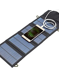 cheap -5V 7W Portable Solar Panel Outdoor Travel Emergency Foldable Charger Power Bank With USB Port