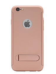 abordables -Funda Para Apple iPhone X iPhone 8 con Soporte Congelada Funda de Cuerpo Entero Un Color Dura ordenador personal para iPhone X iPhone 8
