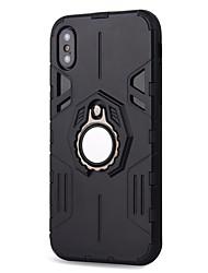 economico -Custodia Per Apple iPhone X iPhone 8 Plus Resistente agli urti Supporto ad anello A calamita Armatura Per retro Armatura Resistente PC per