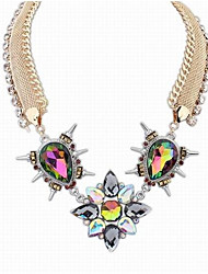 cheap -Crystal Collar Necklace - Drop Statement, Steampunk Rainbow 40 cm Necklace For Evening Party, Club