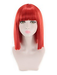 cheap -Synthetic Wig Straight Bob Haircut New Arrival Synthetic Pink Red Women's Capless Carnival Wig Lolita Wig Natural Wigs Cosplay Wig Short