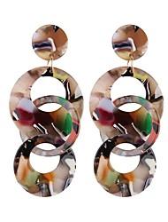 Недорогие -Серьги-слезки - Свисающие, пончики европейский, Мода, Крупногабаритные Белый / Кофейный / Цвет радуги Назначение Для улицы / Для клуба