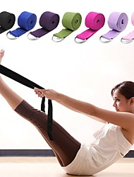 cheap -Yoga Strap With Textile Stretch, Durable, Adjustable D-Ring Buckle Physical Therapy, Stretching, Improve Flexibility For Yoga / Pilates / Exercise & Fitness Unisex