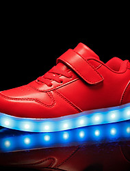 cheap -Boys' / Girls' Shoes PU Spring Light Up Shoes Sneakers LED for Kid's White / Black / Red