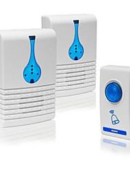 Недорогие -V027G-1 Беспроводное От одного до двух дверных звонков Дзынь-дзынь Музыка Регулируемый звук Крепеж на поверхности дверной звонок