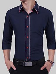 preiswerte -Herrn Einfarbig - Grundlegend Hemd