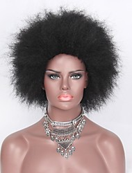 cheap -Synthetic Wig Curly Layered Haircut Synthetic Hair African American Wig Black Wig Women's Short Capless