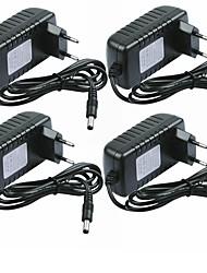 cheap -SENCART 4pcs 100-240V Strip Light Accessory / US / EU Power Adapter Plastic for LED Strip light 24W