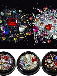 baratos -6pcs Jóias de unha Contas de Cristal Elegante & Luxuoso Brilho & Glitter Luxo Design Moderno Espumante Estilo de cristal / strass Cristal