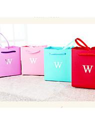 preiswerte -Würfel Kartonpapier Kunststoff Geschenke Halter mit Muster / Druck Bänder Geschenkboxen - 3