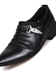 Недорогие -Муж. Официальная обувь Микроволокно Весна / Лето Туфли на шнуровке Контрастных цветов Белый / Черный / Коричневый