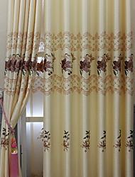 povoljno -Blackout Zavjese Zavjese Living Room Cvjetni print Suvremeno Pamuk / poliester Jacquard